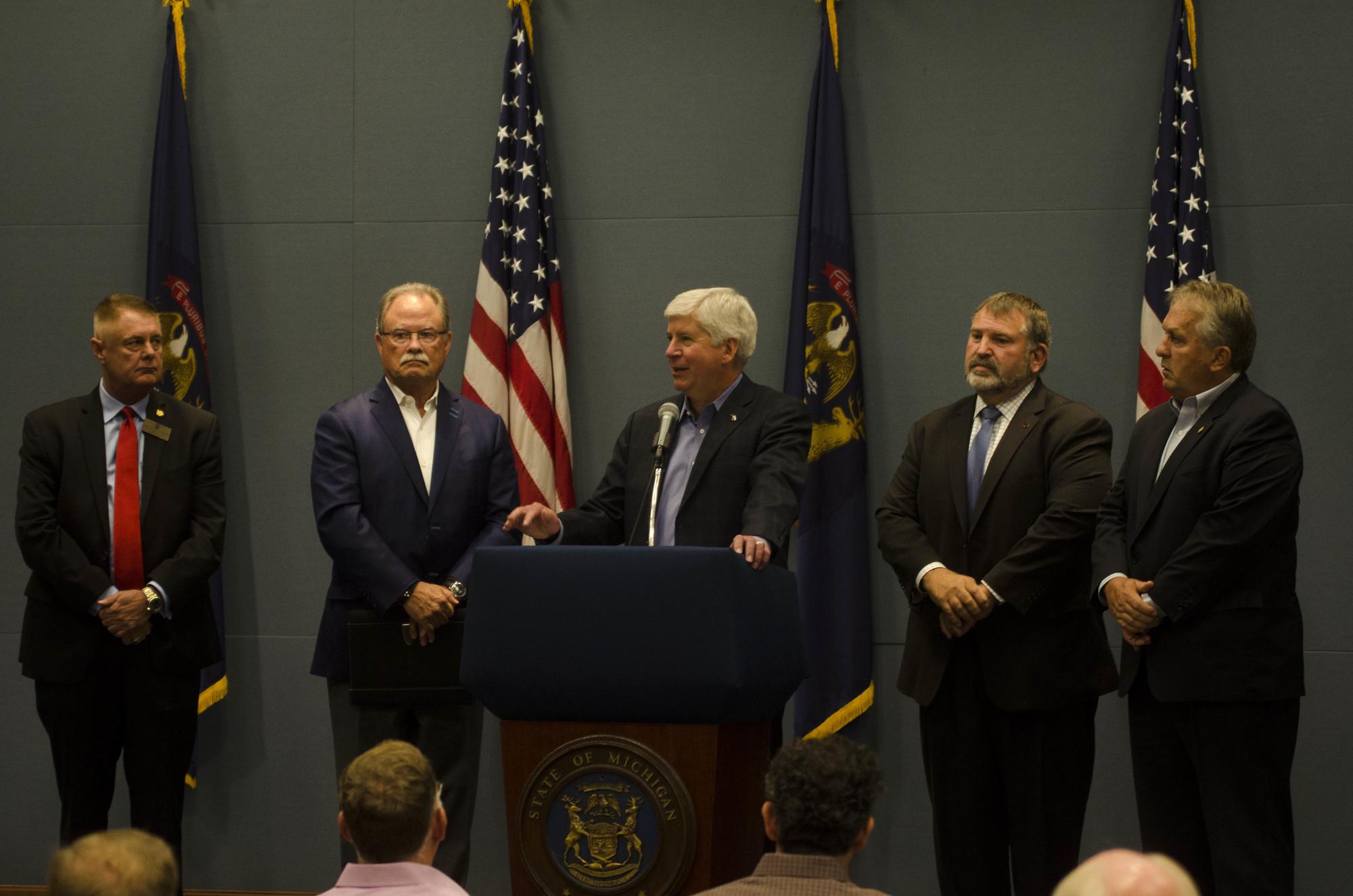 Governor, Farm Bureau, Chamber Talk Infrastructure