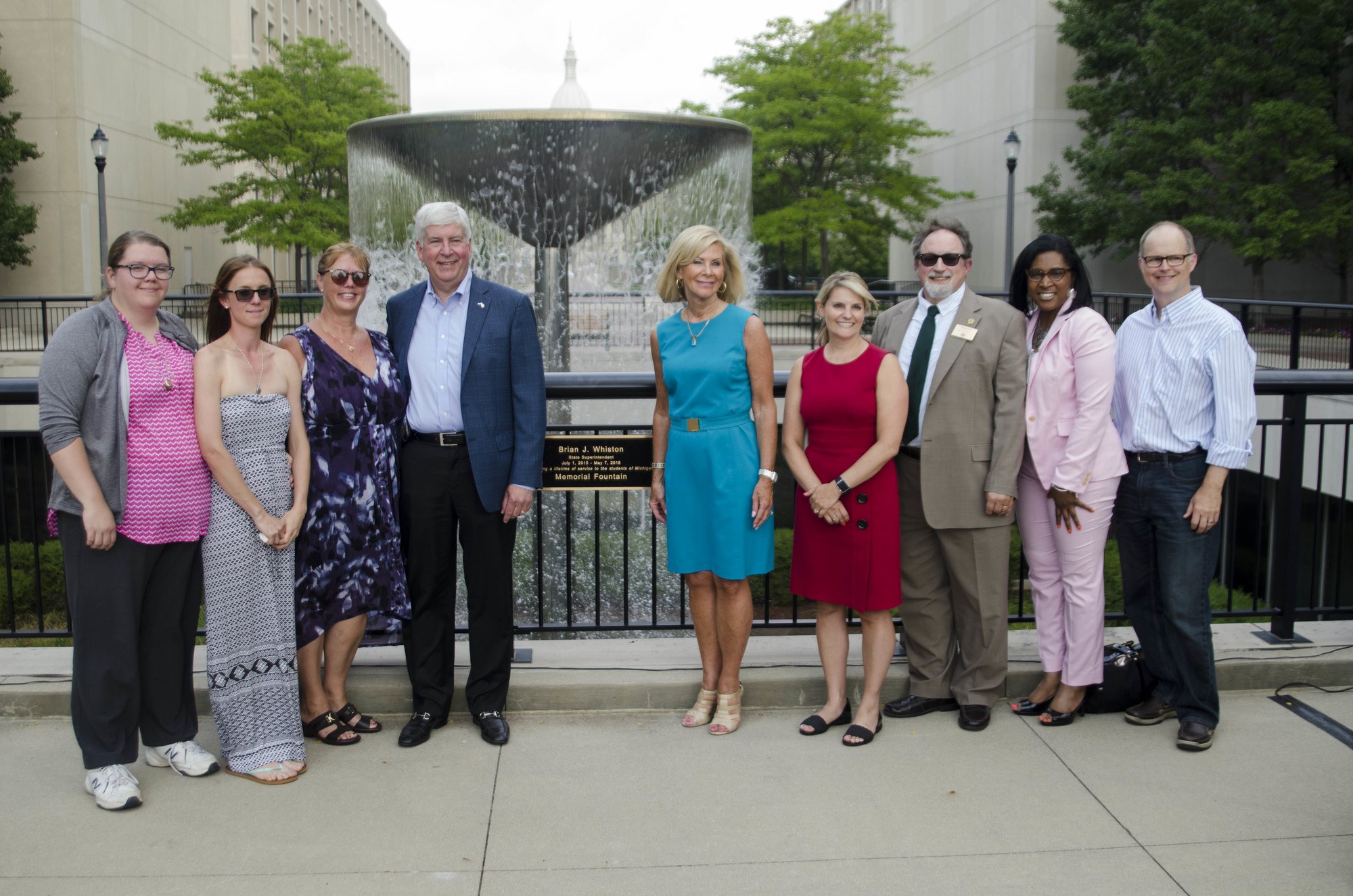 State Fountain Named After Late Superintendent