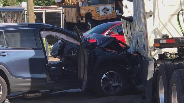 Semi, Vehicle Collide In Downtown Marquette