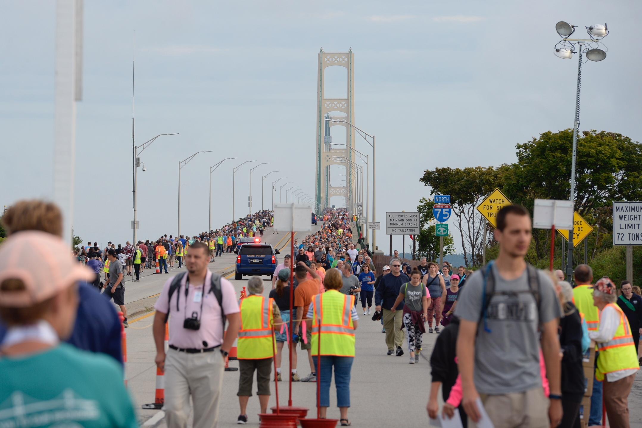 More Than 25,000 Walk At Mackinac Bridge Event