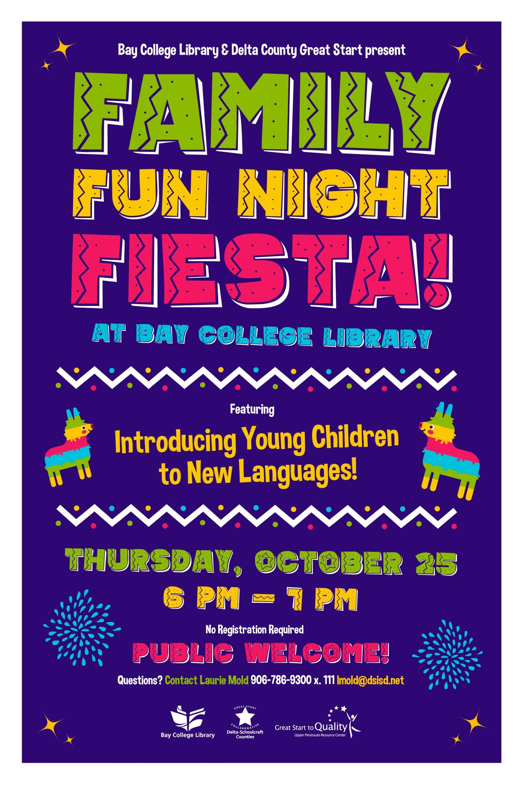 Bay College Family Fun Night Set Next Thursday