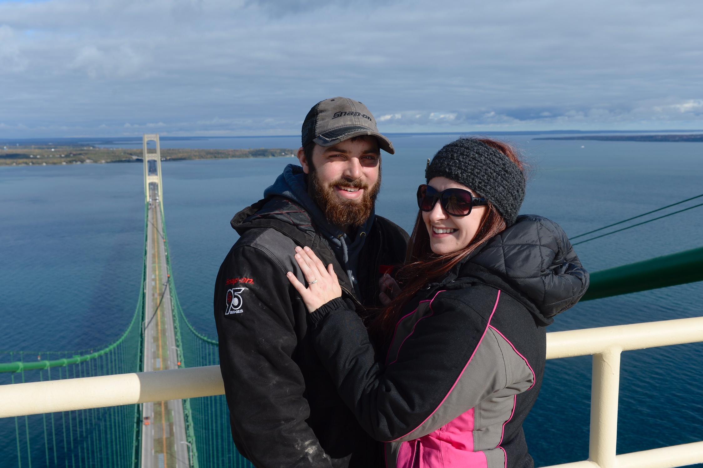 St. Ignace Couple Gets Engaged On Mackinac Bridge