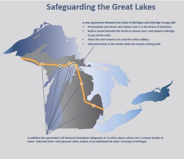Enbridge Agrees To Replace Mackinac Pipeline