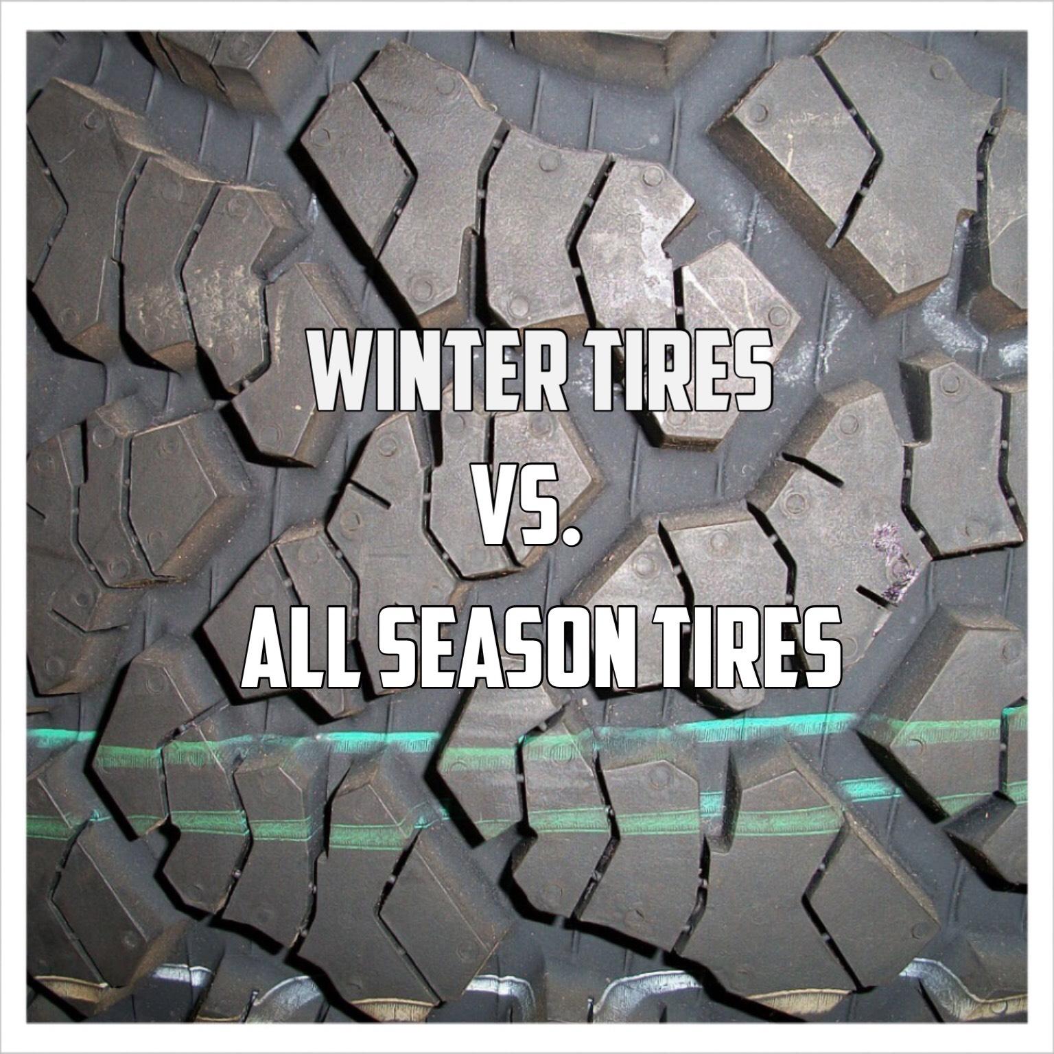 Winter vs All Season Tires