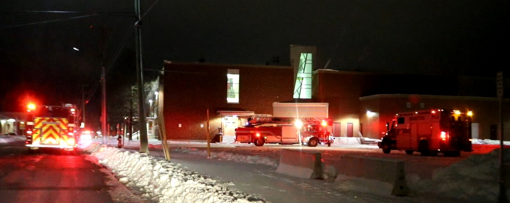 Moncton FD Responds To Minor Fire At Harrison Trimble High School