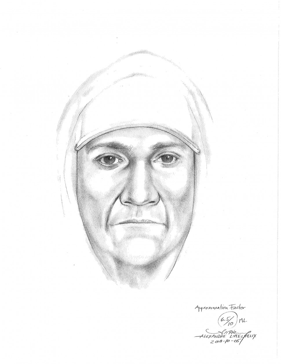 RCMP Release Sketch Of Home Invasion Suspect