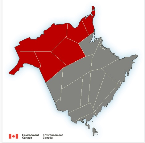 Snow Forecast For North NB, Rain For South