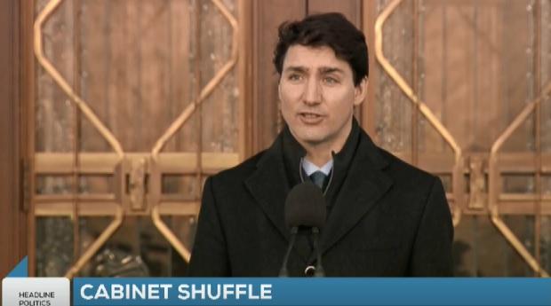 PM Trudeau Shuffles Cabinet