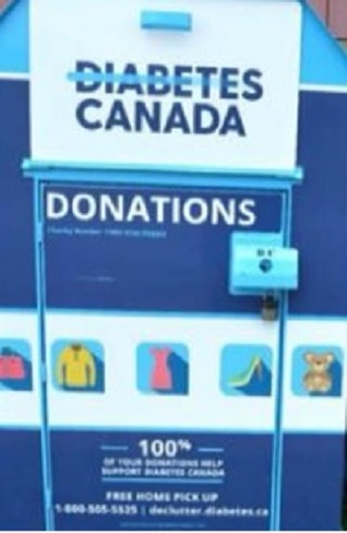 UPDATE:  Diabetes Canada To Make Donation Bin Changes After Recent Deaths