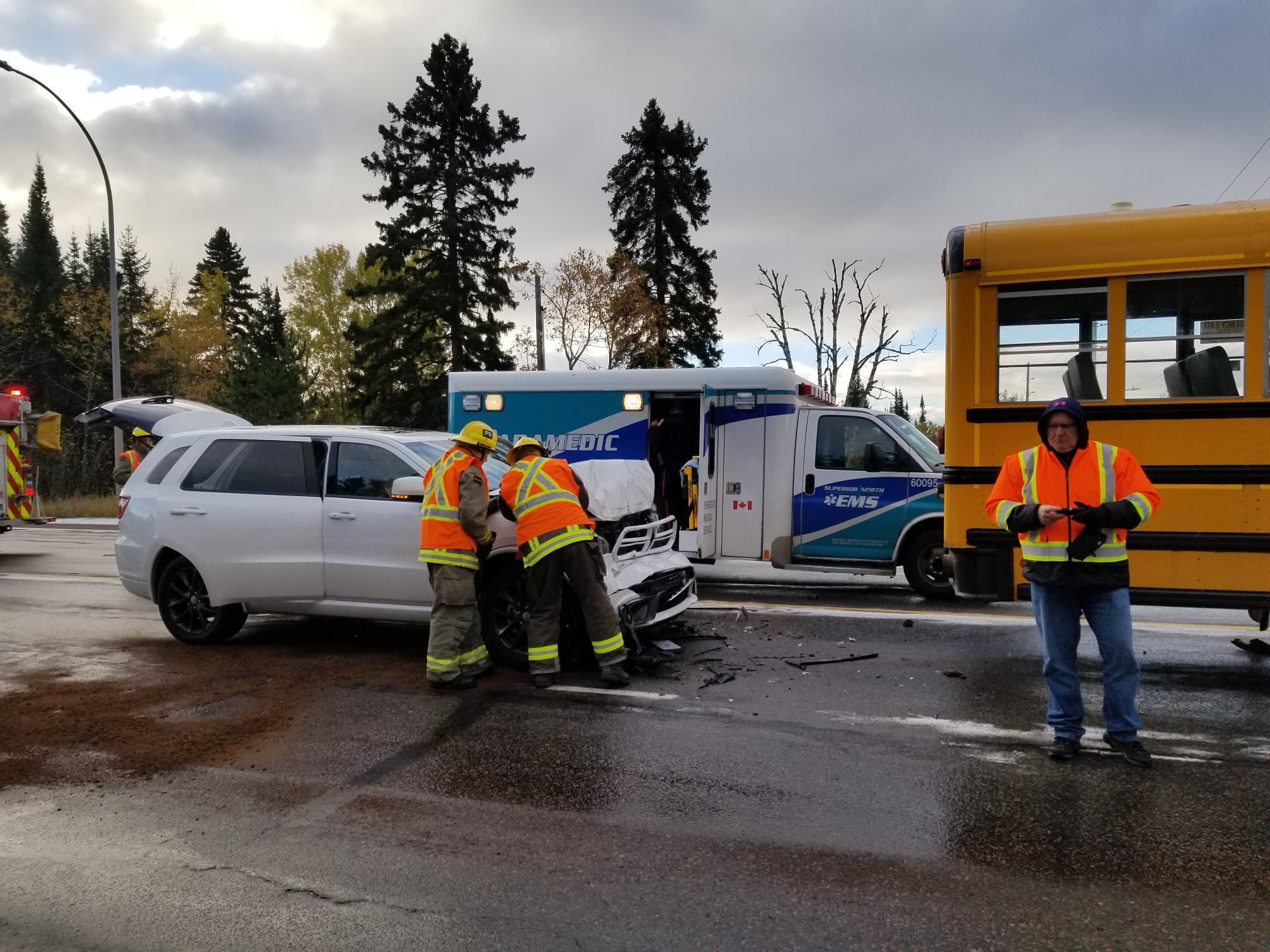 Minor Injuries In Bus Crash