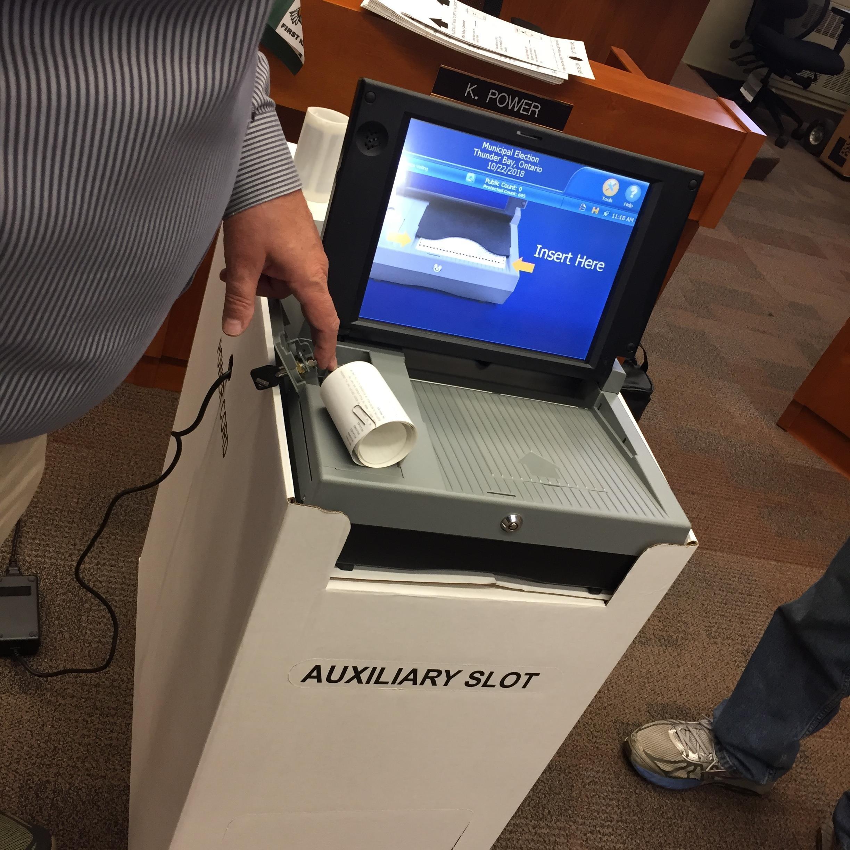 City Testing Vote Tabulator