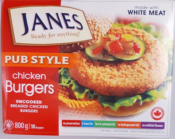 Chicken Burgers Recalled