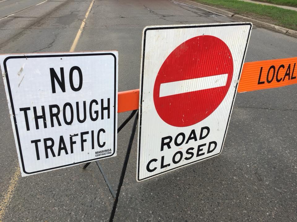 Vickers & Victoria Intersection Closed