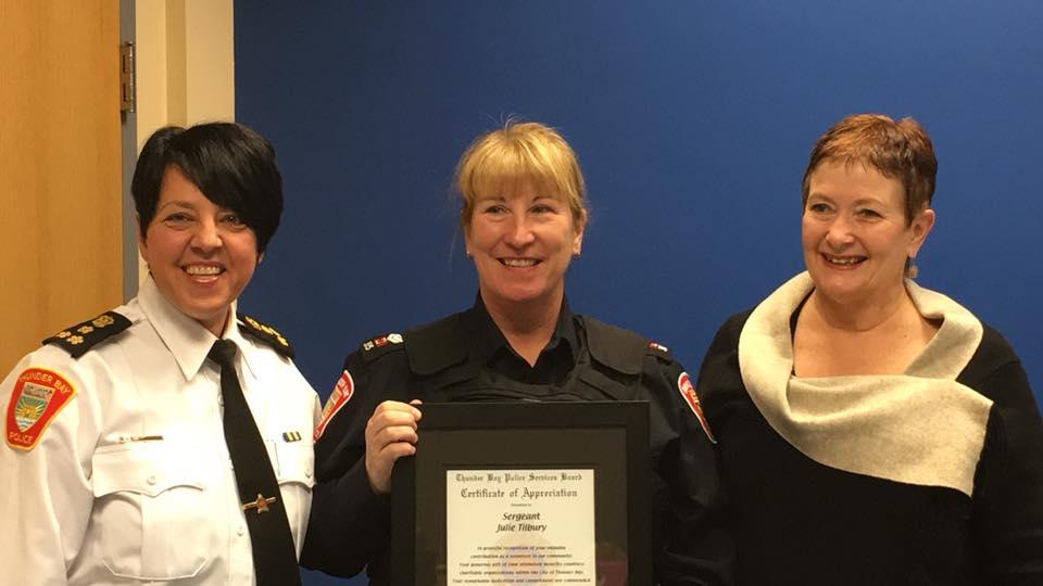 Tilbury Honoured By Police Board