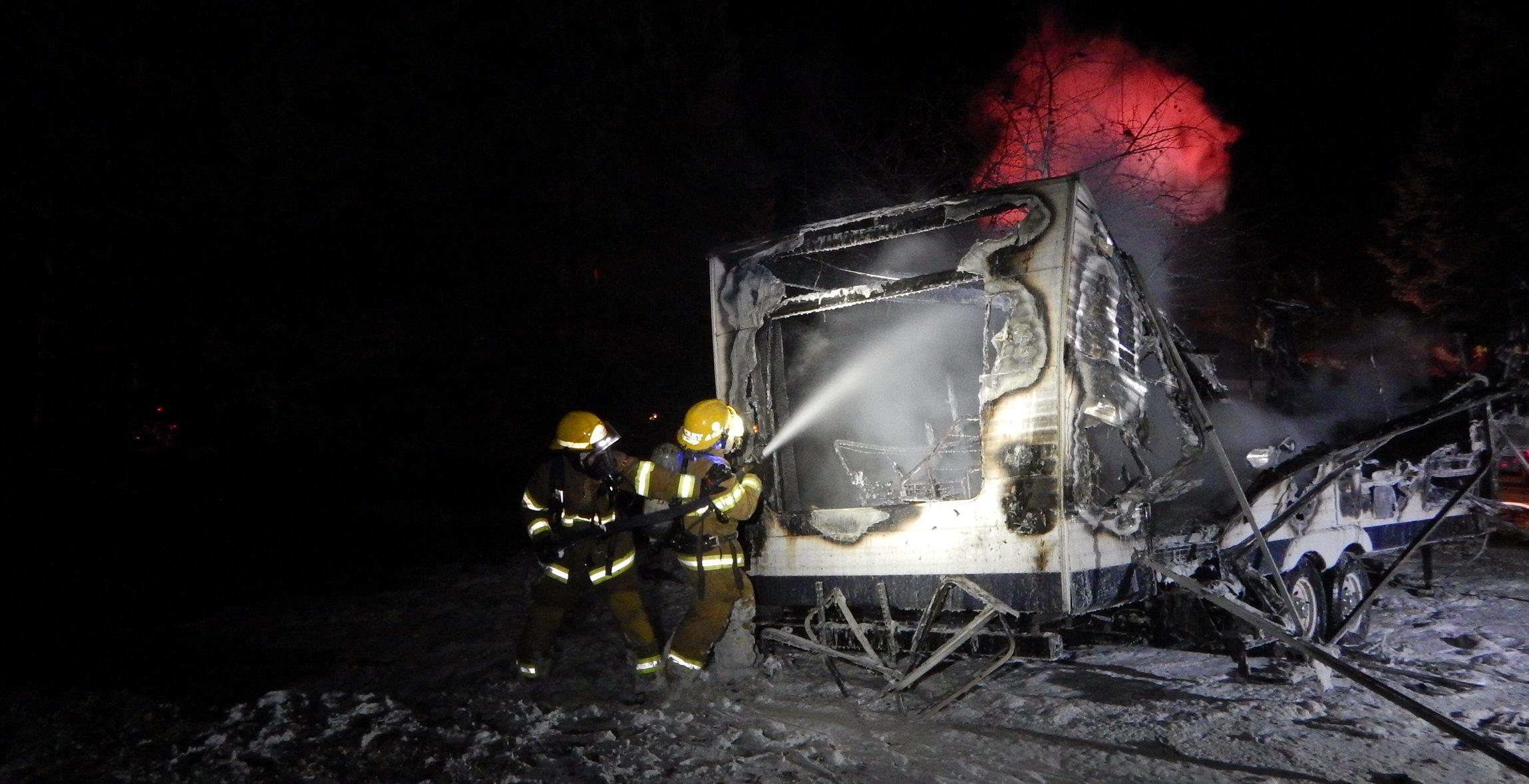 Fire Destroys RV In Shuniah