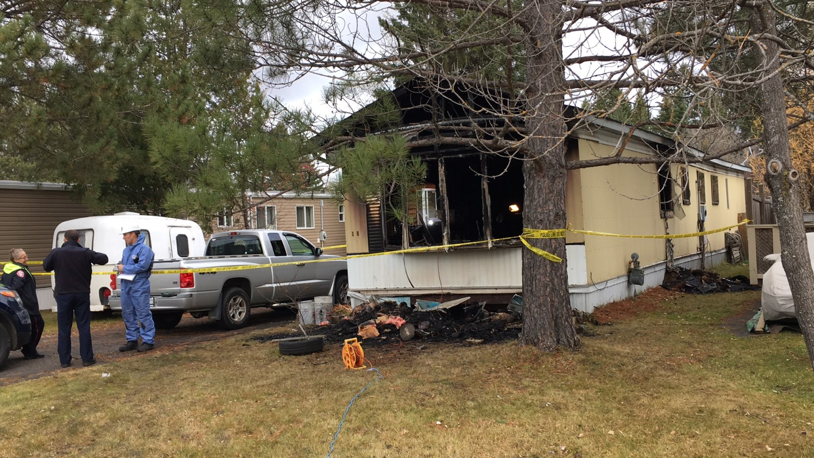 UPDATE:  Death Confirmed In Trailer Park Fire