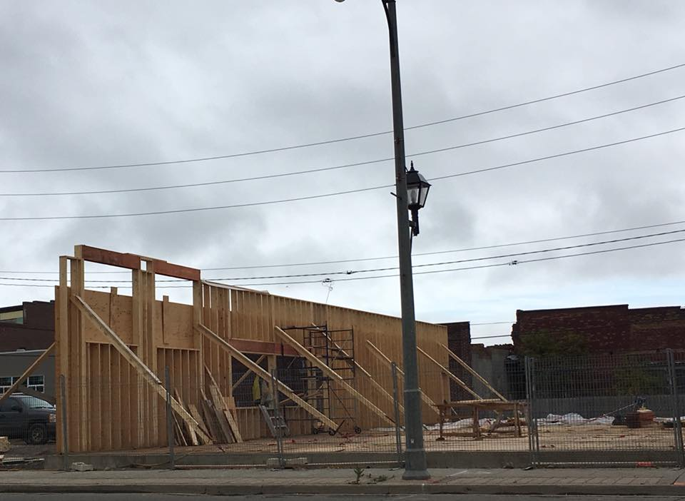 Newfie's Pub Constructing New Building