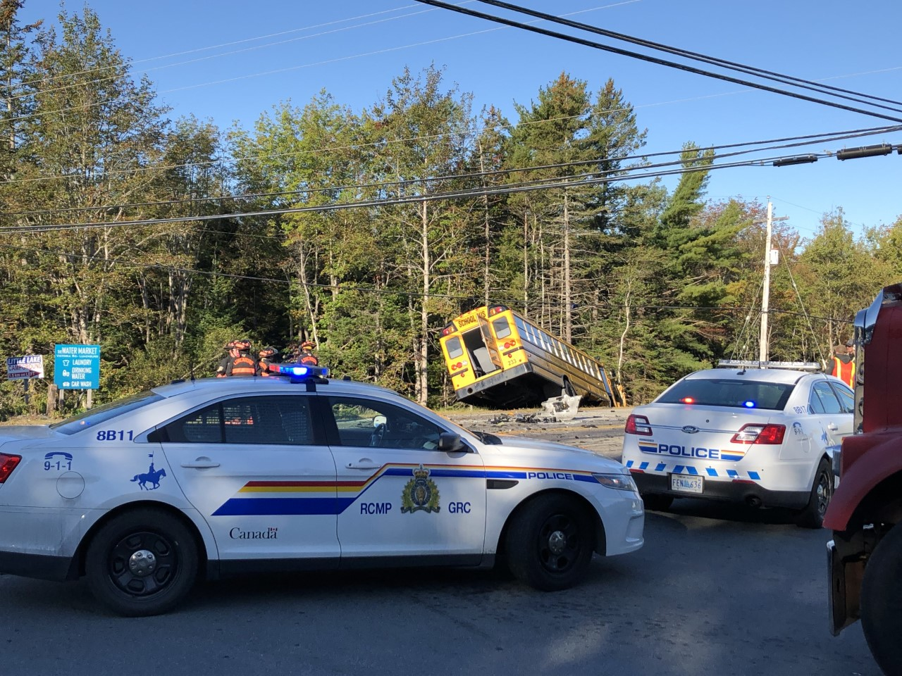 BREAKING: School Bus Accident Closes Hwy 3 Outside Lunenburg