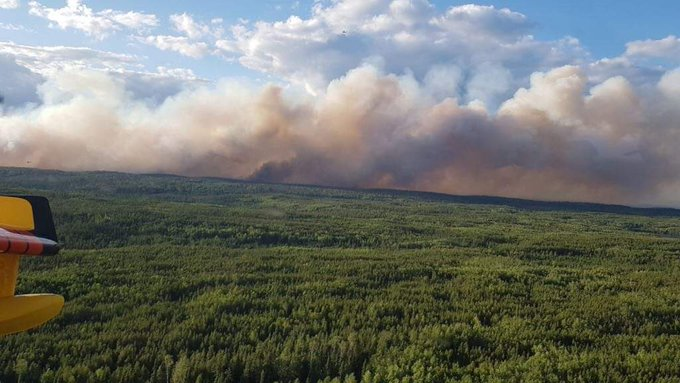 Forest fire grows near Red Lake, Ont., forcing community to evacuate