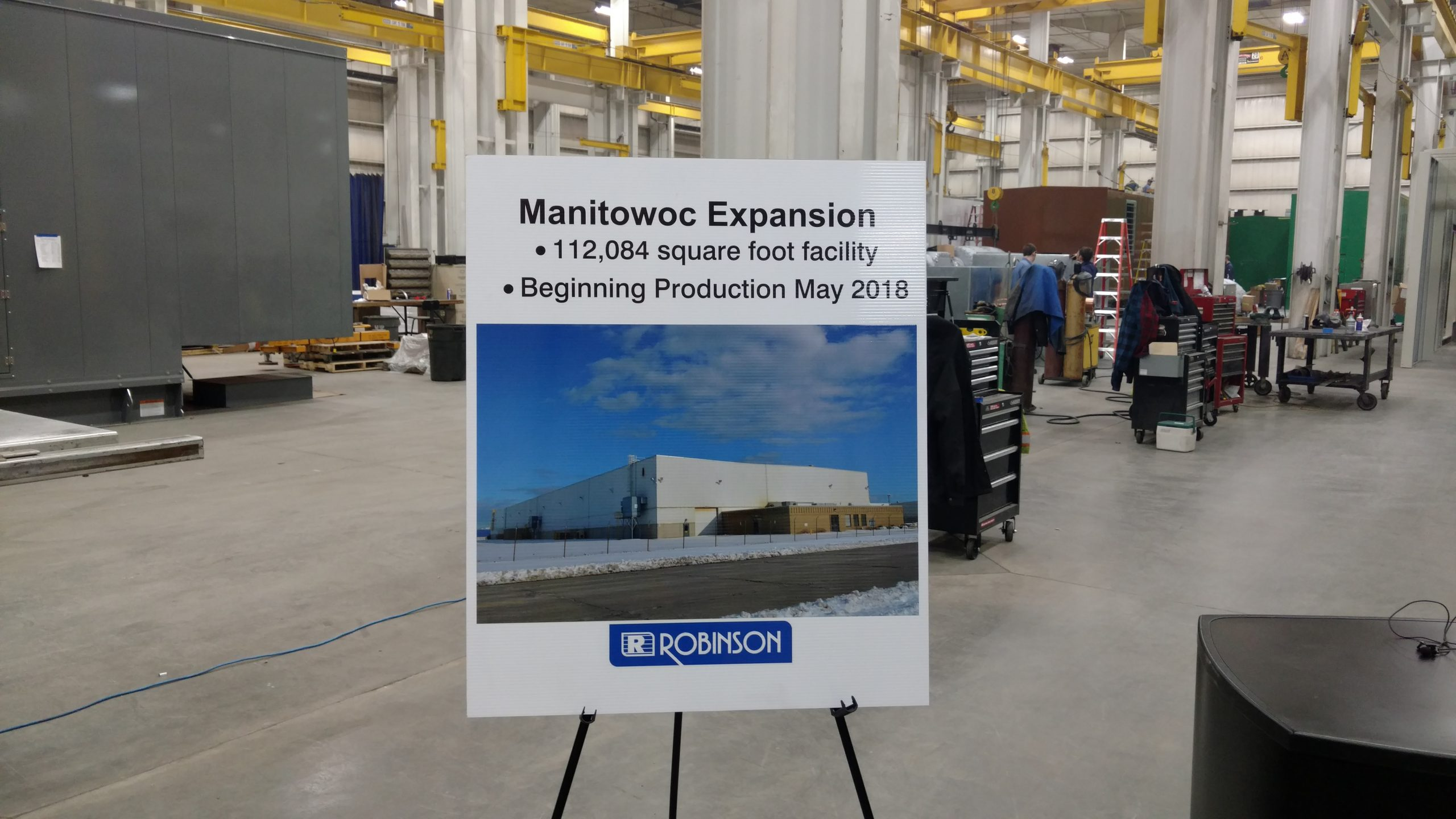 Robinson Metal Expansion Officially Announced Today