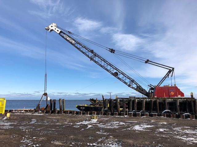 S.S. Badger Dock Repairs Underway