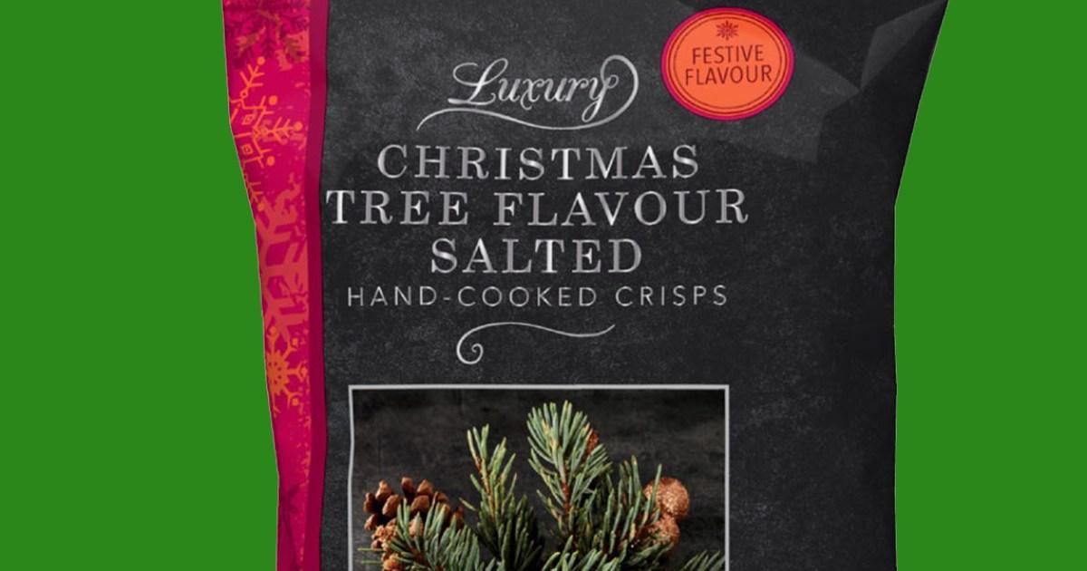 Christmas Tree-Flavored Potato Chips????