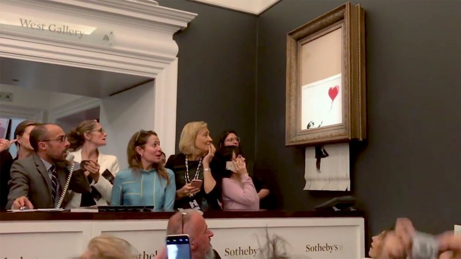 Banksy's Girl with Balloon should have shredded Completely