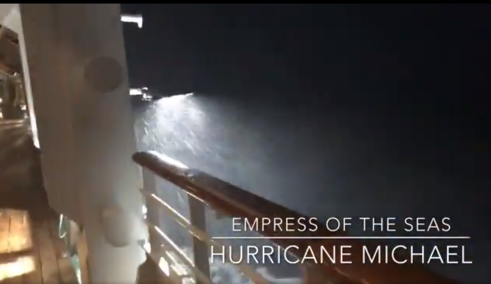 WATCH: Cruise Ship Caught Up In Heavy Winds From Hurricane Michael