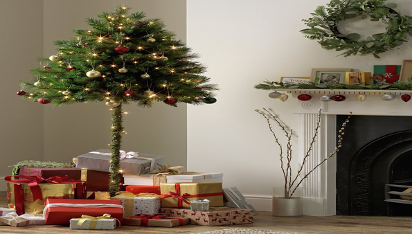 """Pet and Childproof Your Christmas Tree with a """"Half Christmas Tree!"""""""