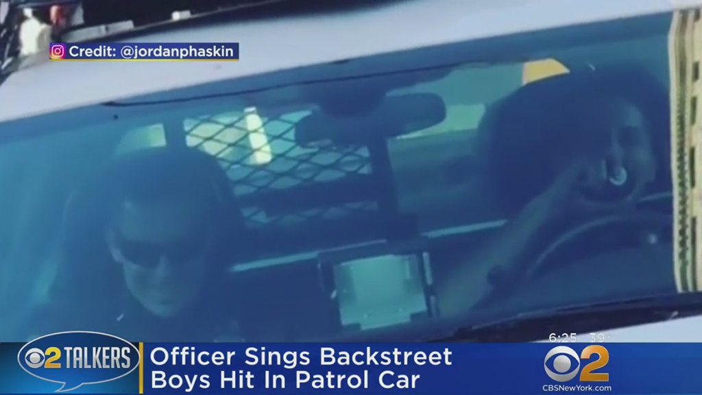 NYPD Officer Belts Out Backstreet Boys When He Hears They're Going on Tour