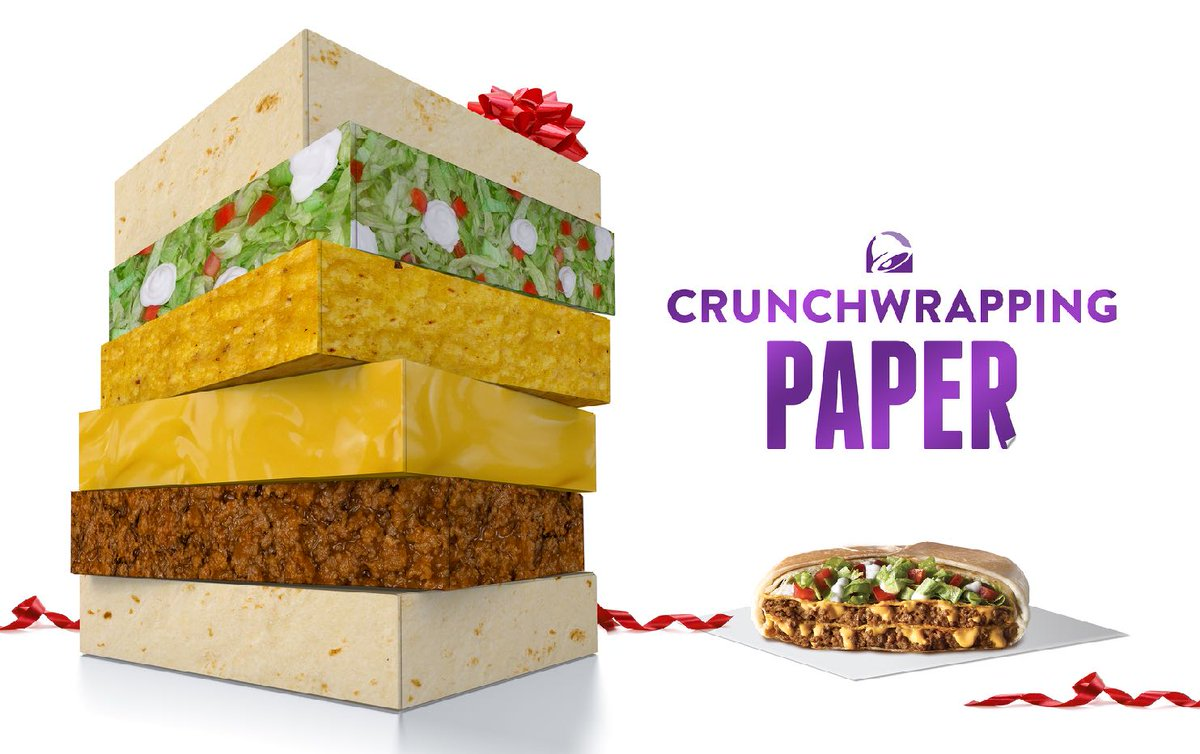 Taco Bell Crunch  Wrapping Paper Is Here