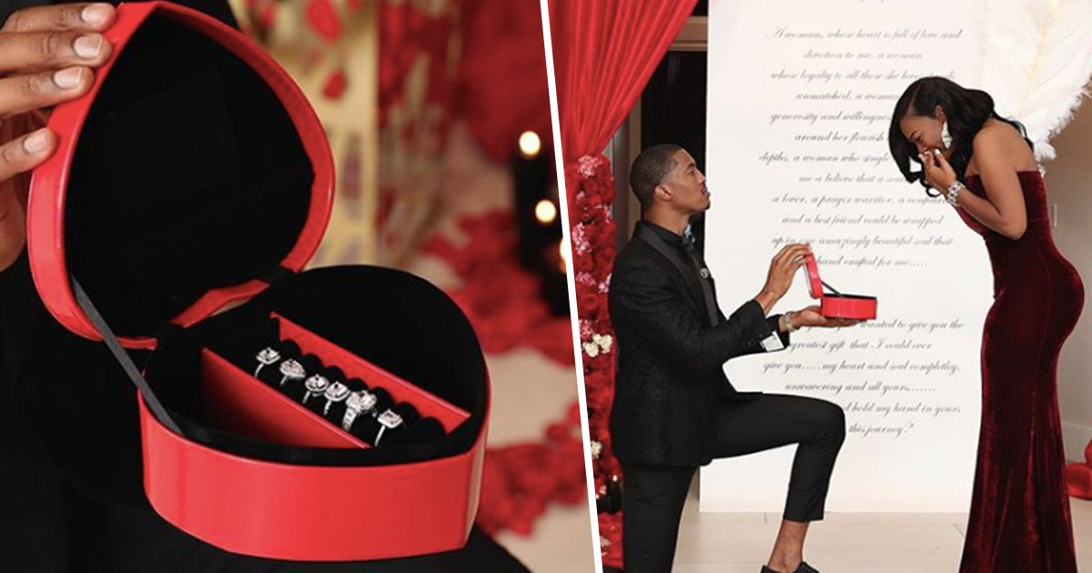 Guy Proposes with Six Rings So His Fiancée Can Pick the One She Wants