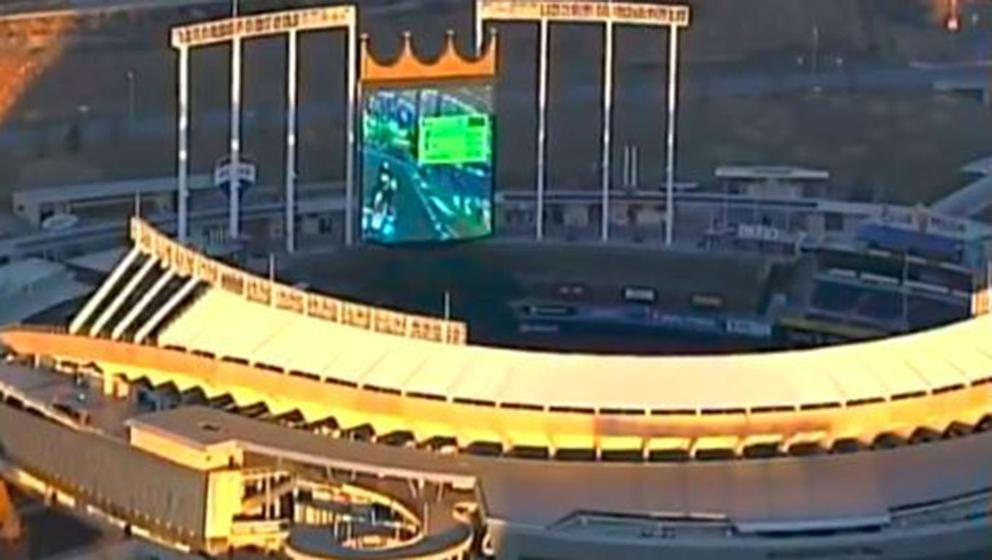 Somebody Played Mario Kart on a Baseball Stadium Video Board