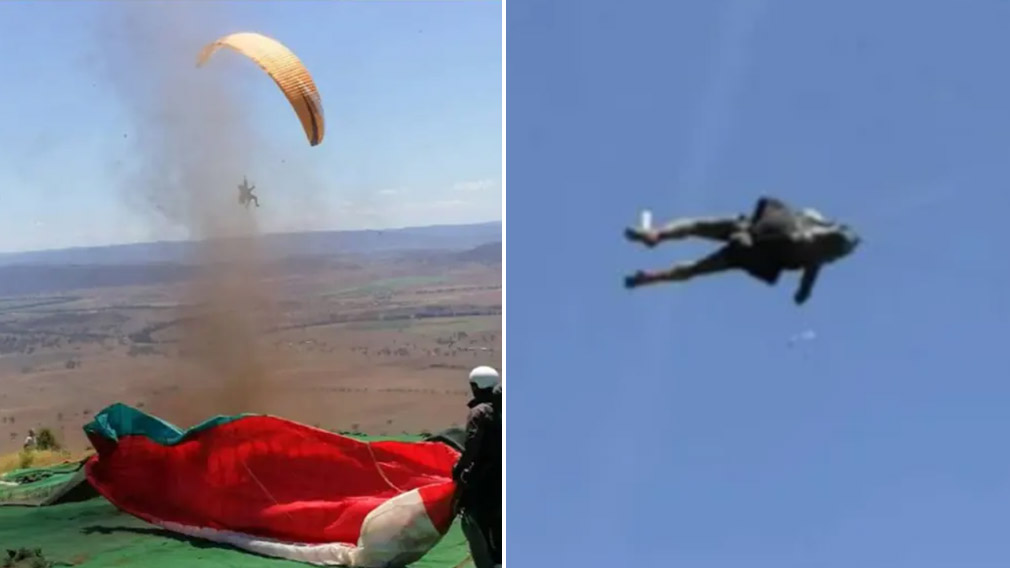 Paraglider Have A Terrifying Encounter With A Dust Devil