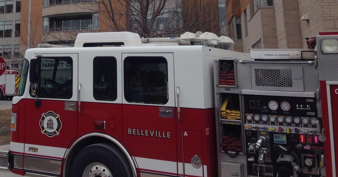 Belleville car fire