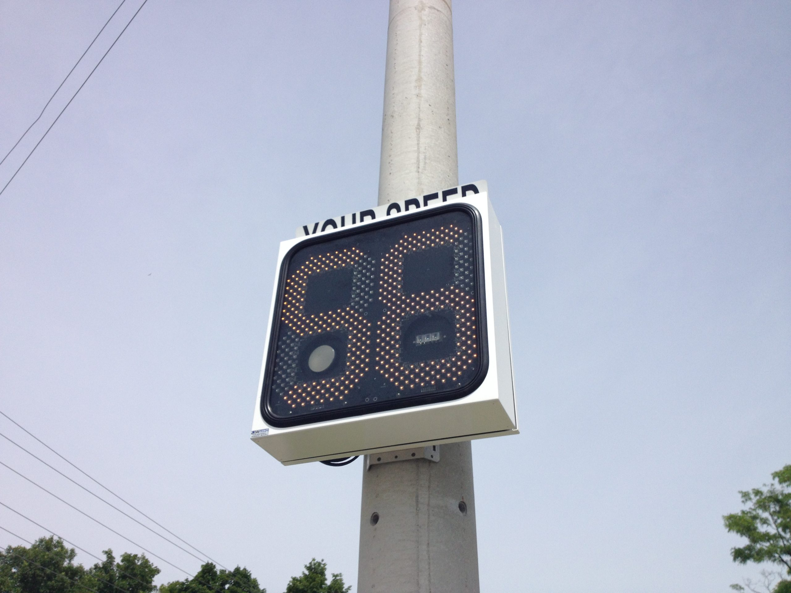 Digital signs used to remind drivers about PEC speed limit changes