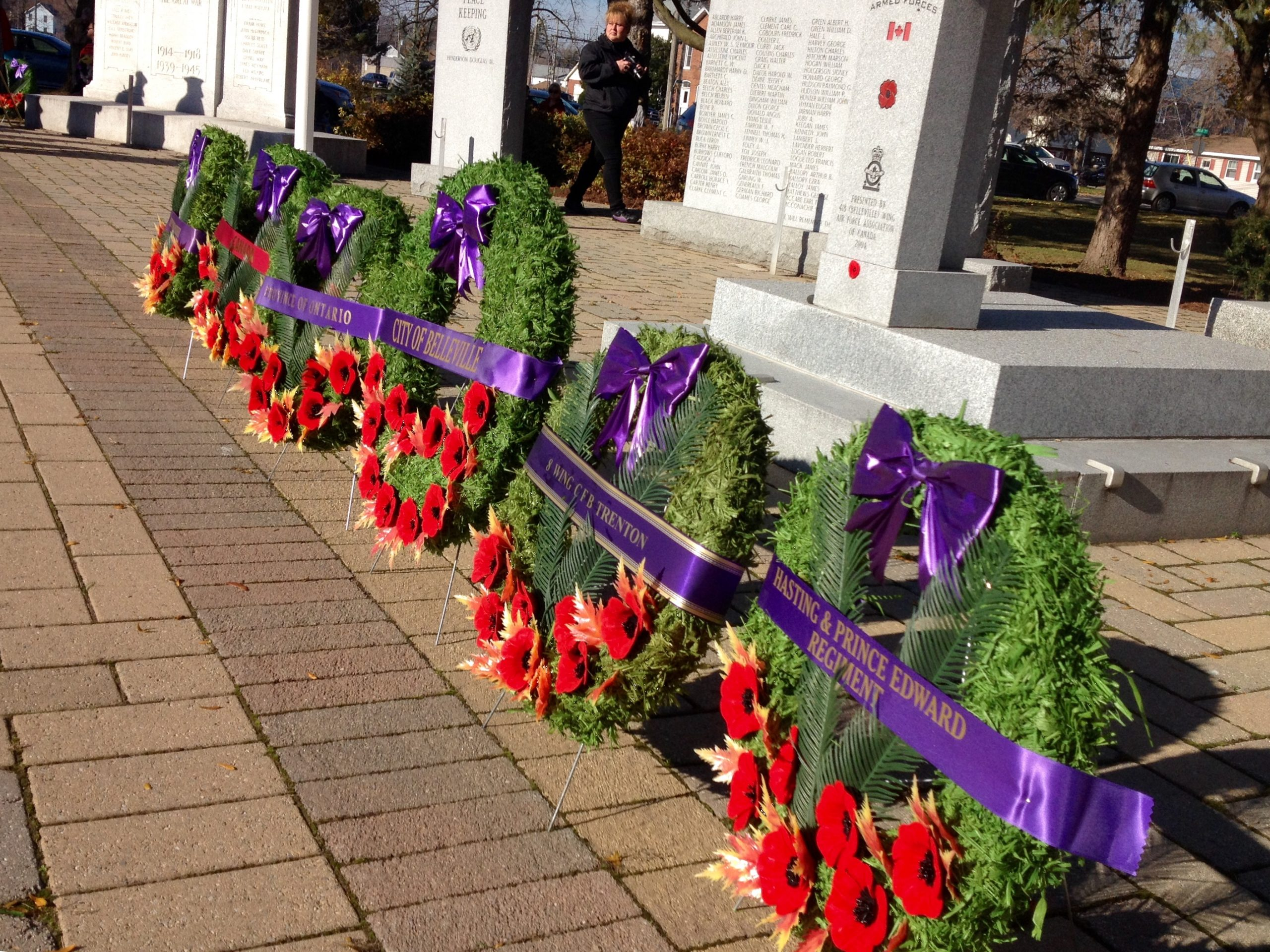 Marking Remembrance Day in Belleville