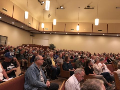 Brighton Candidate debate draws large crowd