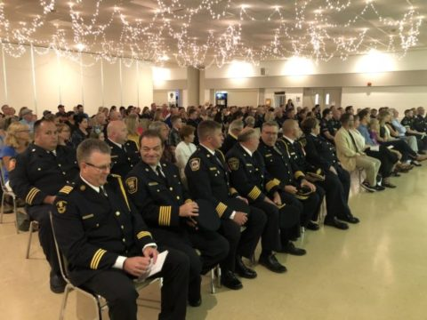 """Brighton Fire Chief honoured with """"lightning bolt"""" award"""