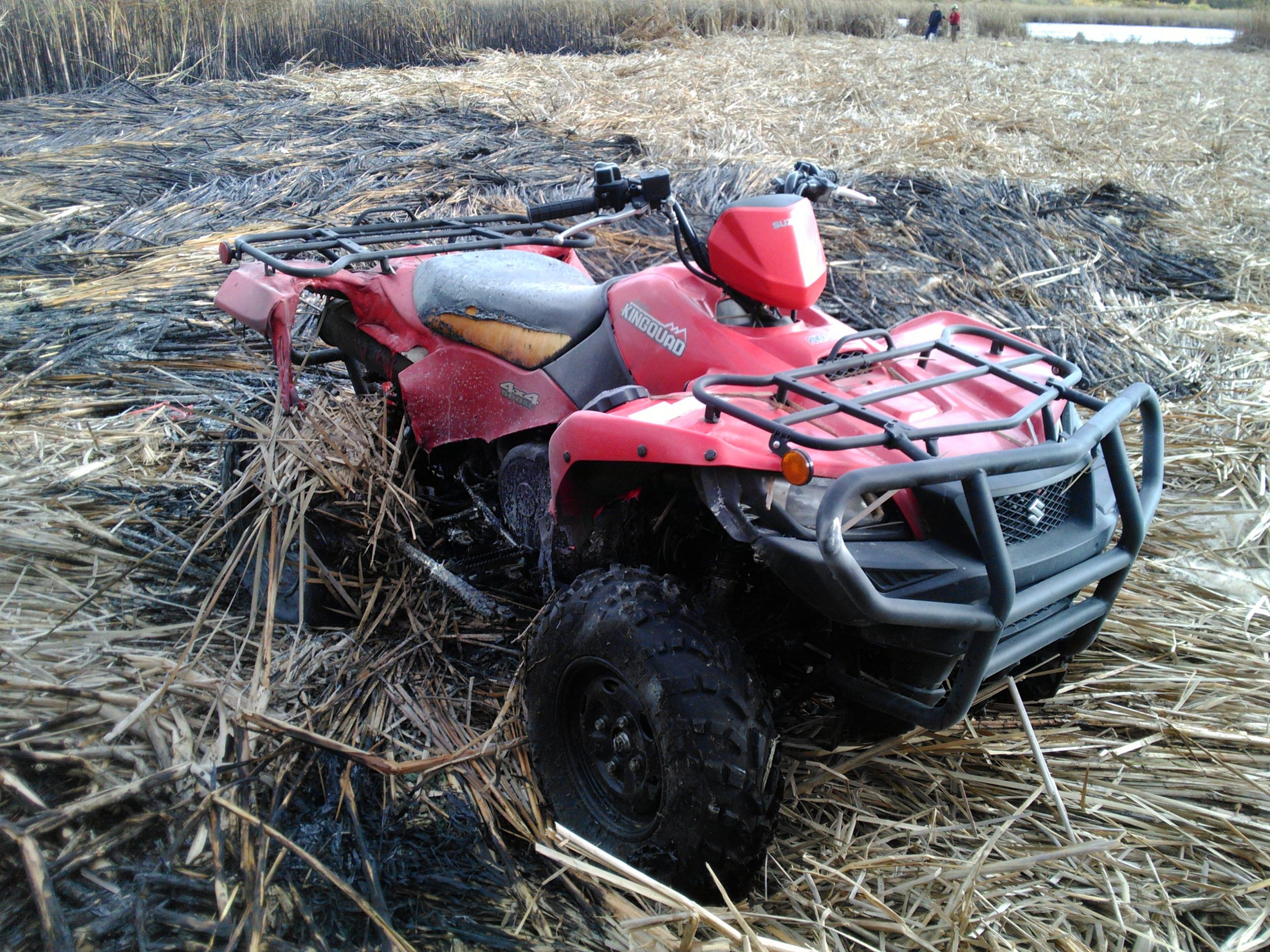 ATV fire spreads to marsh in Belleville