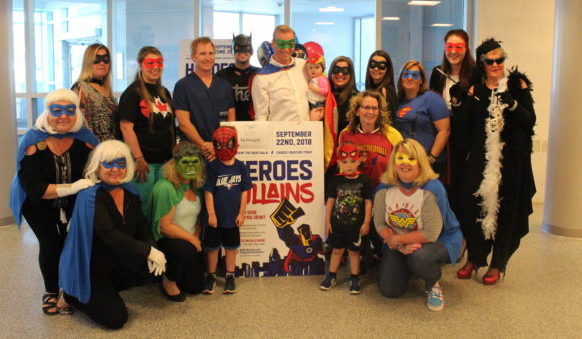 Heroes & Villains helping the hospitalized