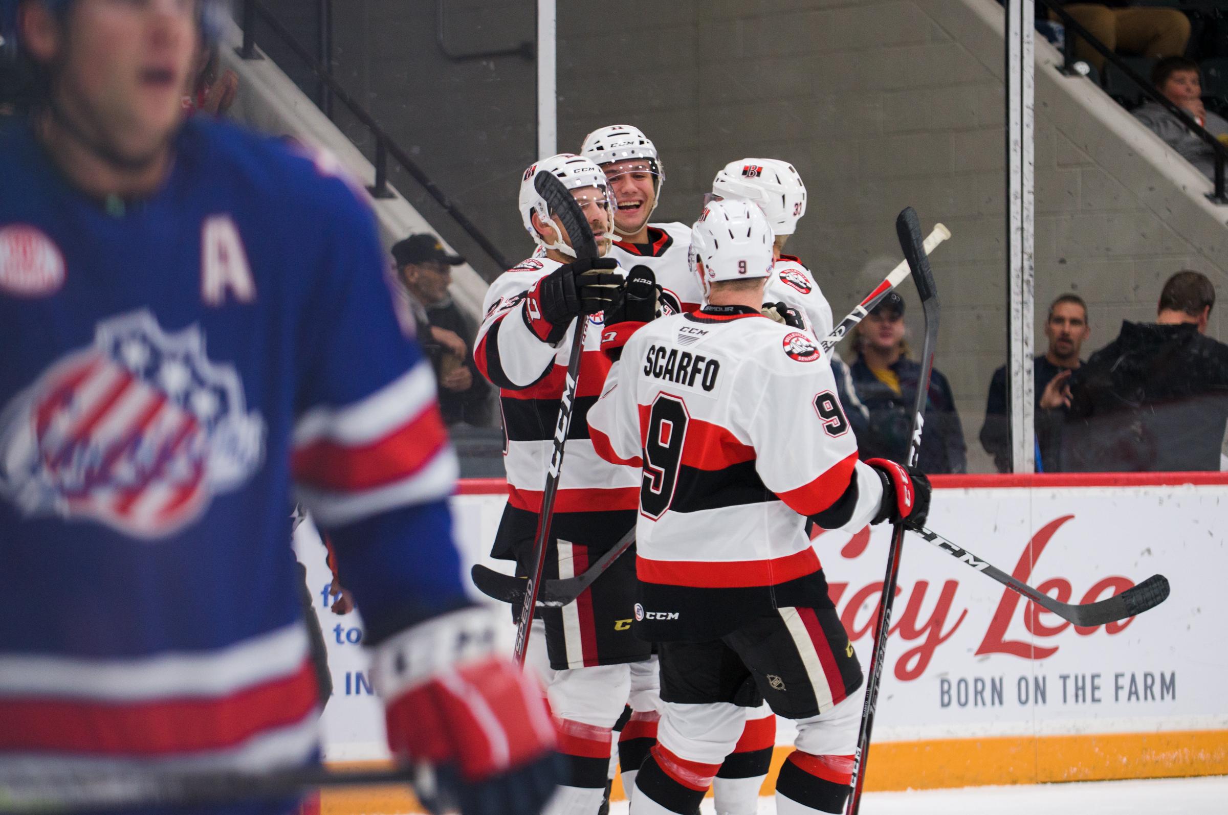 Belleville Senators battle back to snap Amerks win streak