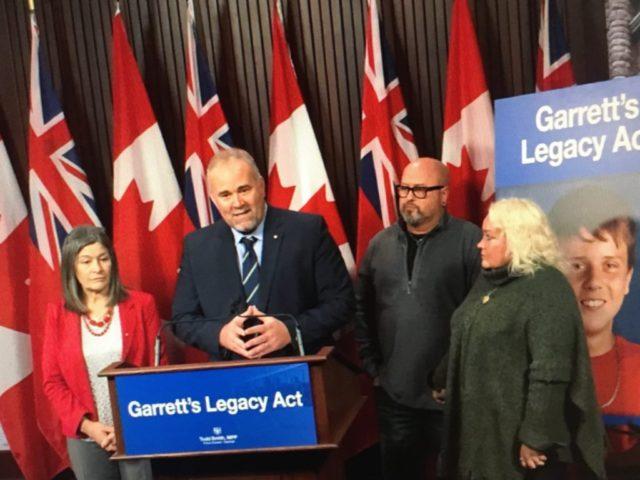 Garrett's Legacy Act back at Queen's Park