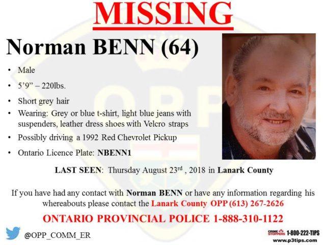 Lanark County man missing
