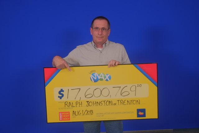 Trenton man cashes massive Lotto Max win