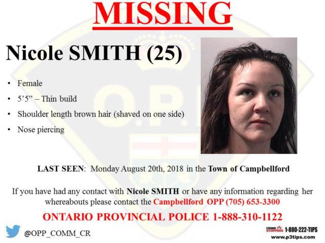 Trent Hills woman still missing