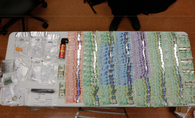 Purple fentanyl, heroin, cash and more seized in Napanee raid