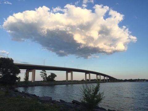 Woman jumps off bridge