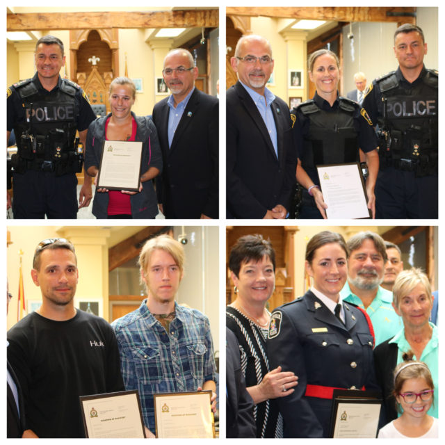 Citizens and officers honoured for acts of bravery and hard work