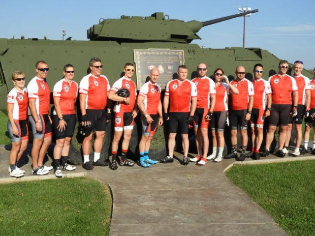 Bike ride celebrates military heroes